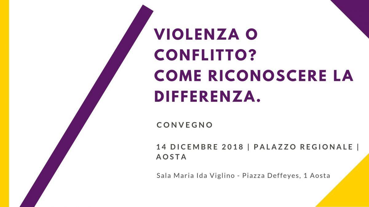 Convegno: Violenza o conflitto? Come riconoscere la differenza
