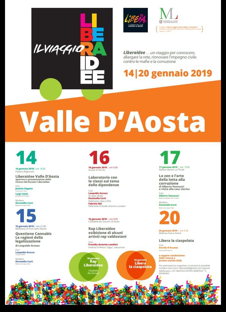 Liberaidee: in Valle d'Aosta una settimana di iniziative