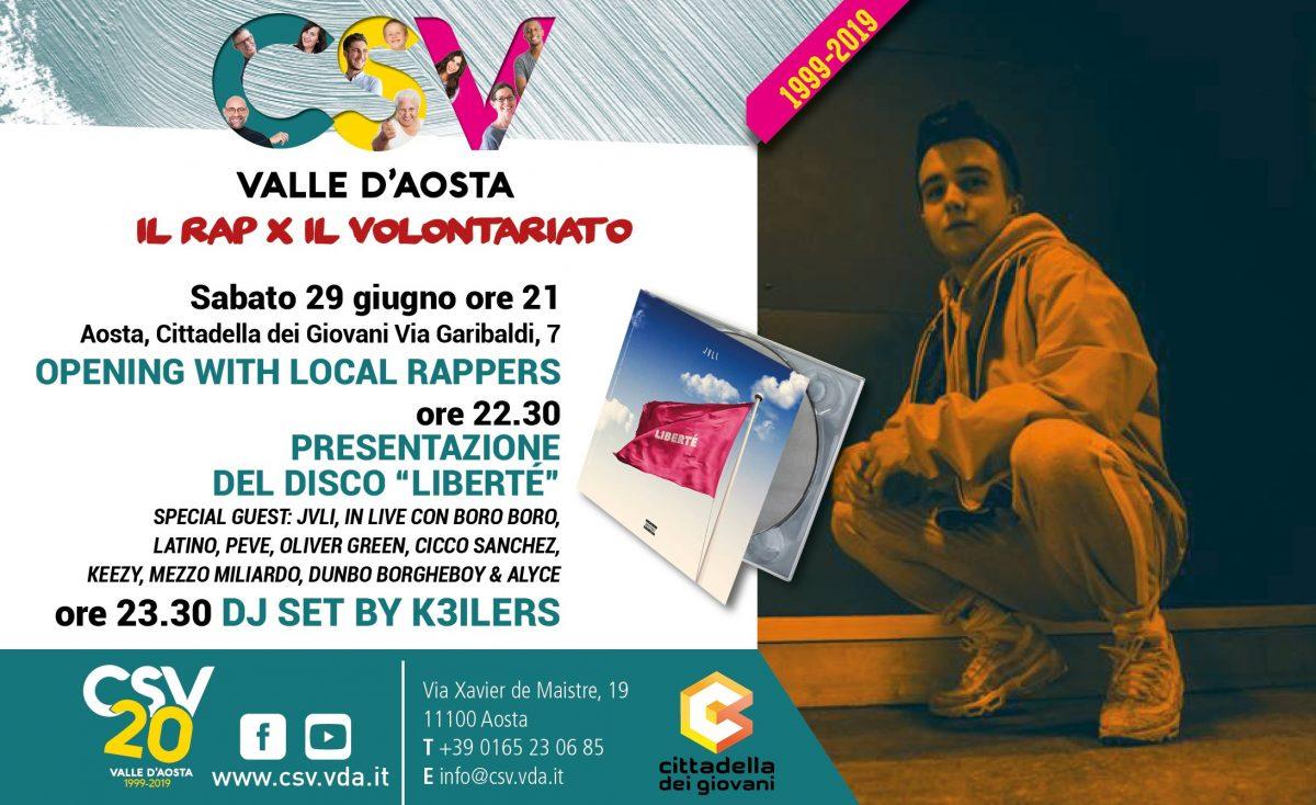 """""""Il rap x il volontariato"""" alla Cittadella dei Giovani"""