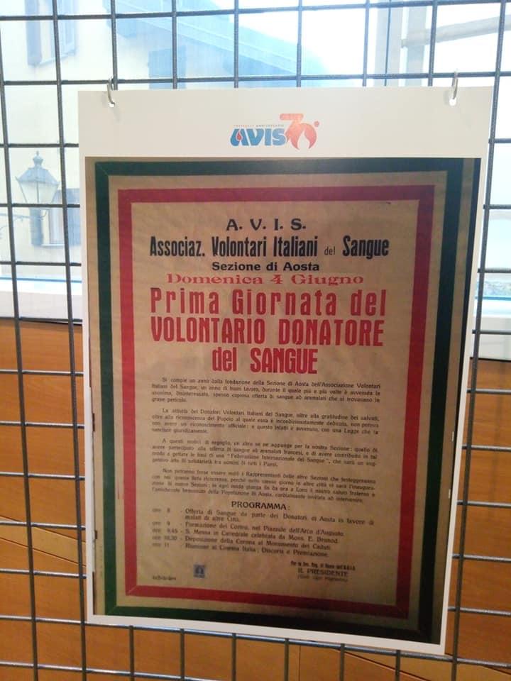Un'esposizione per i 70 anni di AVIS in Valle d'Aosta