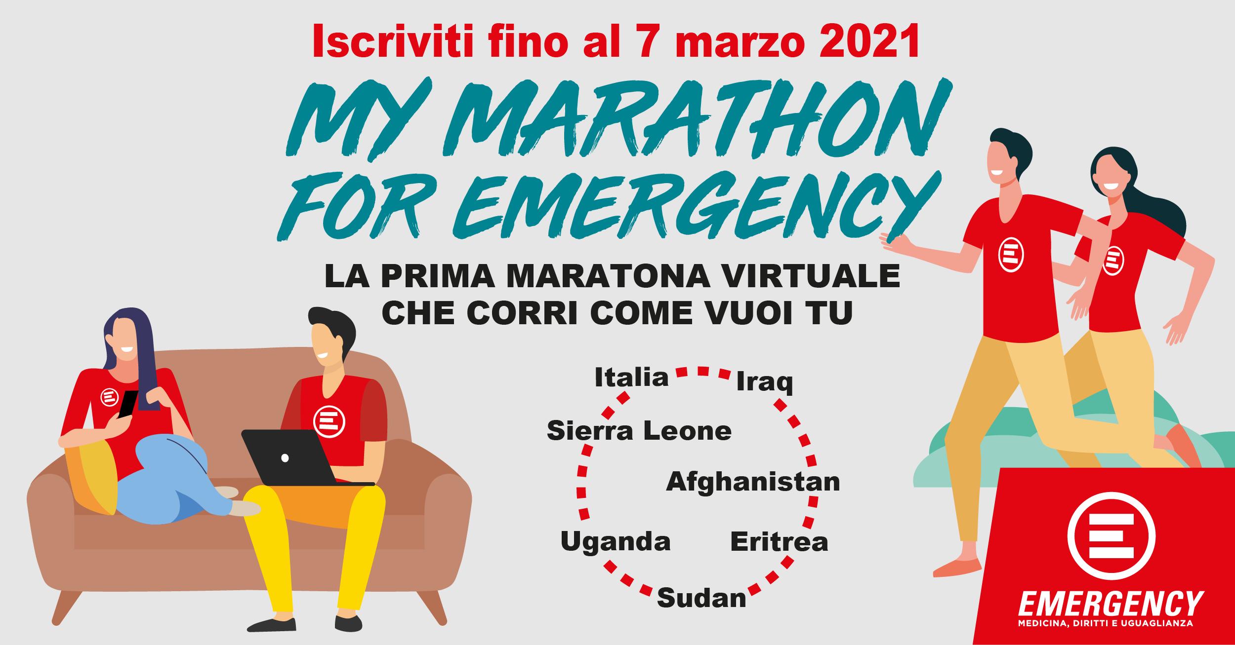Una maratona virtuale per sostenere Emergency