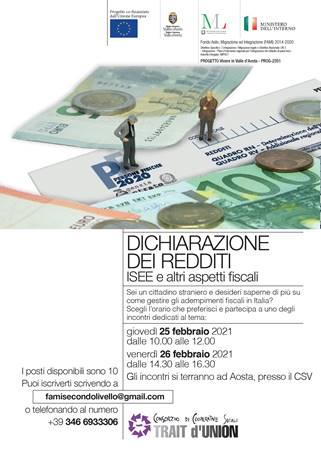 730, ISEE e altri aspetti fiscali in un incontro formativo ad Aosta